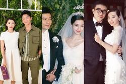 Có phải do 'vía nặng', 4 cặp đôi tham dự đám cưới Huỳnh Hiểu Minh - Angelababy đều 'toang'