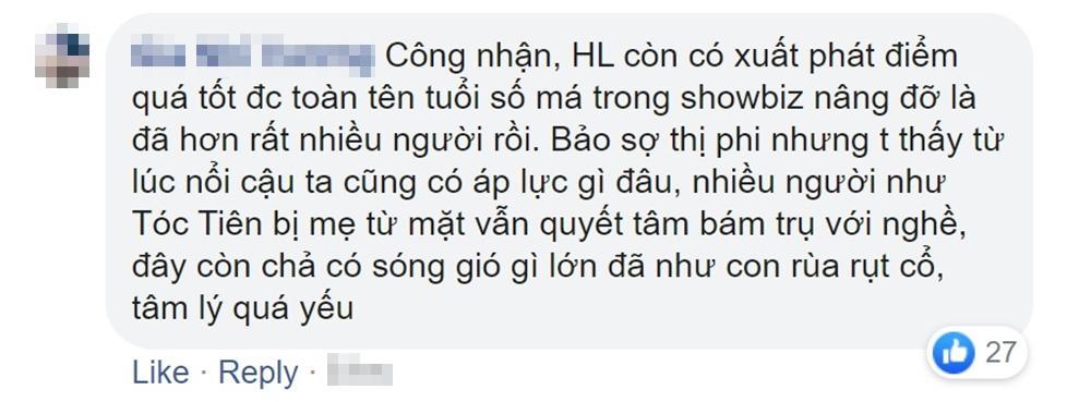 Khán giả cãi nhau khi Hoài Lâm không hứa trở lại showbiz-5