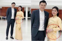 Đồng nghiệp vô tình để lộ ảnh MC Hoàng Linh bụng to bất thường