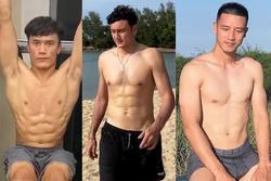 Văn Hậu, Văn Lâm và dàn tuyển thủ khoe thân hình 6 múi ngày hè
