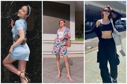 Chi Pu - Thúy Vi khoe eo triệt để với áo croptop nhưng nàng sexy - người năng động