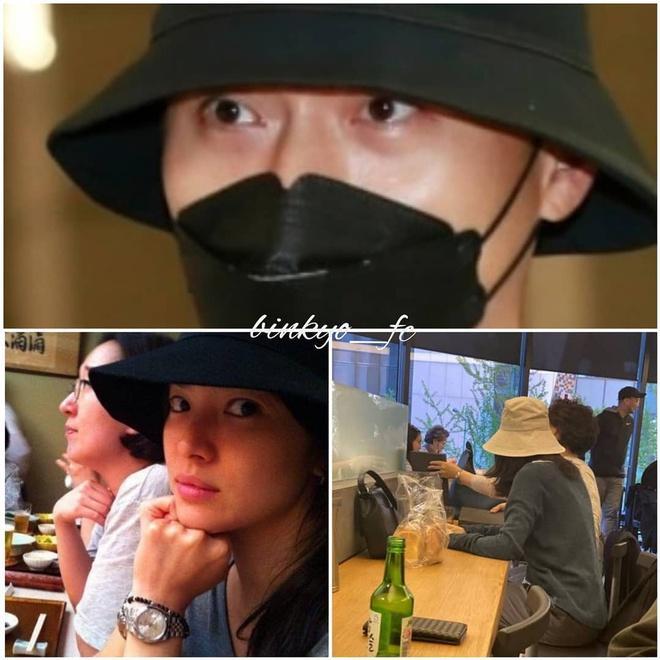 Nghi vấn Song Hye Kyo và Hyun Bin đội mũ đôi, hẹn hò trong đêm-4