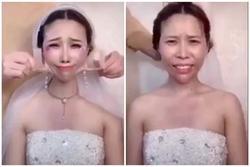 Vỡ mộng chứng kiến các cô dâu tháo lớp trang điểm thần thánh