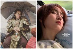 Ninh Dương Lan Ngọc, Nhật Kim Anh ngủ gật trên phim trường