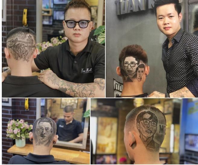 Cạo tóc tạo hình nhân viên y tế ở Đà Nẵng để cổ vũ chống dịch-2