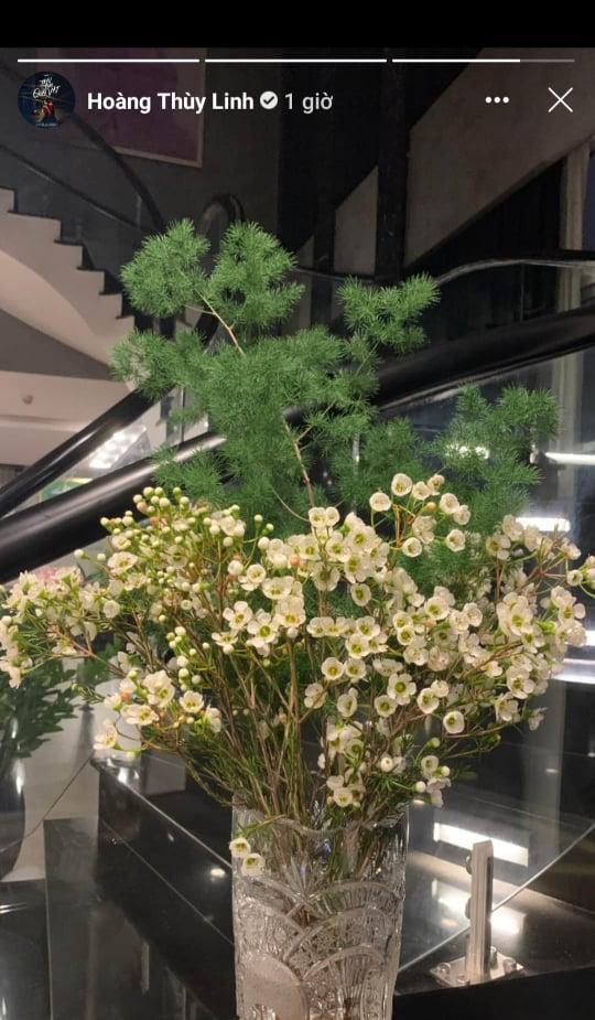 Không gian sống sang trọng tràn ngập sắc hoa của Hoàng Thùy Linh-5
