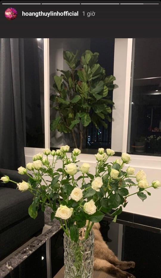 Không gian sống sang trọng tràn ngập sắc hoa của Hoàng Thùy Linh-4