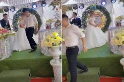 Đám cưới gặp sự cố, chú rể bỏ đi, cô dâu đứng 1 mình không biết nên khóc hay cười