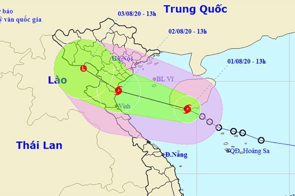 Bão giật cấp 10 cách Thái Bình - Nghệ An 450 km, biển động rất mạnh-1