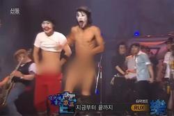 Shock với nhóm nhạc Hàn Quốc khỏa thân ngay trên sóng quốc gia