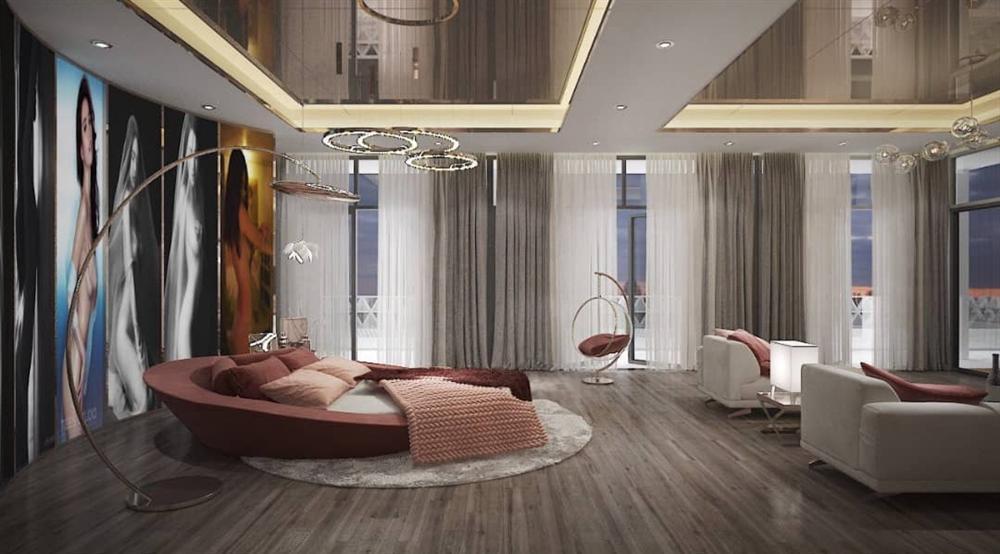 Bên trong biệt thự 45 tỷ của Ngọc Trinh, riêng ảnh đầu giường đổi 80 lần mới ưng-8