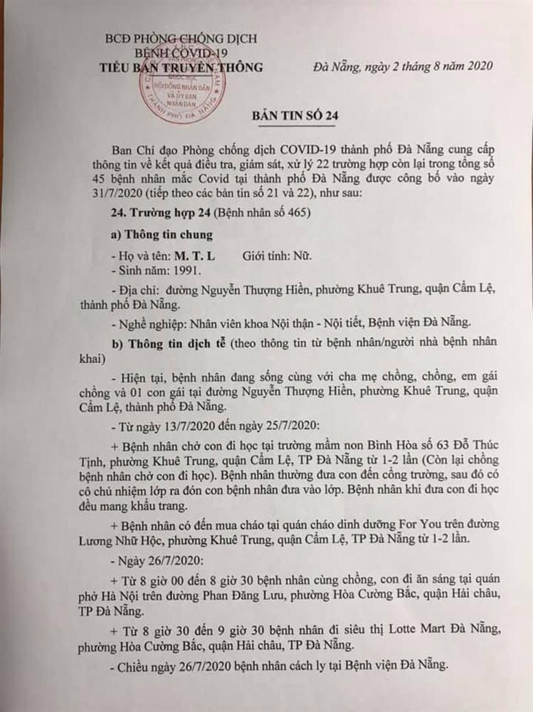 1 bệnh nhân COVID-19 tại Đà Nẵng không hợp tác khai báo-1