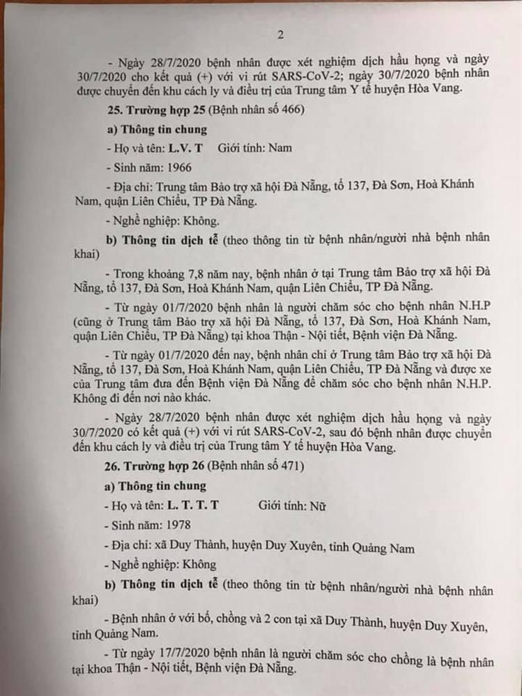 1 bệnh nhân COVID-19 tại Đà Nẵng không hợp tác khai báo-2