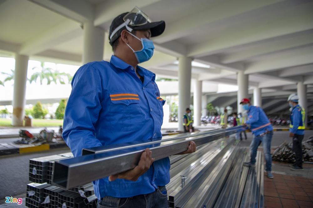 96 giờ thi công bệnh viện dã chiến 2.000 giường ở Đà Nẵng-2