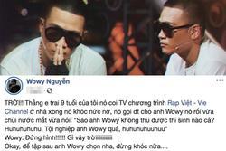 'Lão đại' Wowy kể chuyện em trai khóc nức nở thương anh sau tập 1 'Rap Việt'