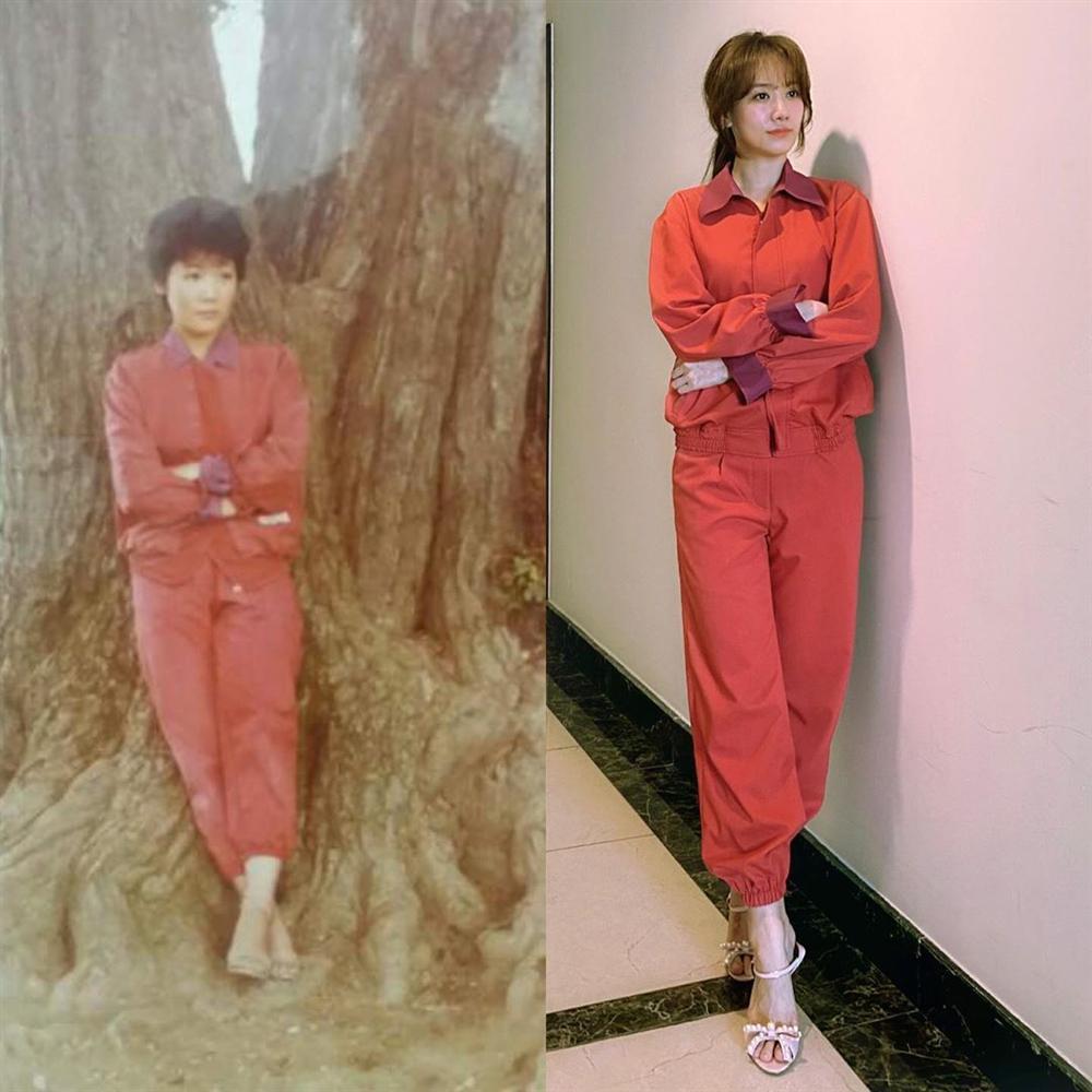 Hari Won gây sốt với hình ảnh lên đồ và tạo dáng giống hệt mẹ-1