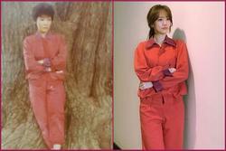 Hari Won gây sốt với hình ảnh lên đồ và tạo dáng giống hệt mẹ