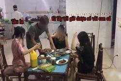 Mẹ đẻ cùng 2 con dâu ngồi nhậu bắt con trai nấu nướng, ra lệnh 'Rán cá xong chưa cho mẹ con tao nhắm'