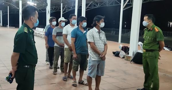 Bắt giữ 6 ngư dân đi bộ theo đường biển trốn cách ly từ Đà Nẵng về Huế-1