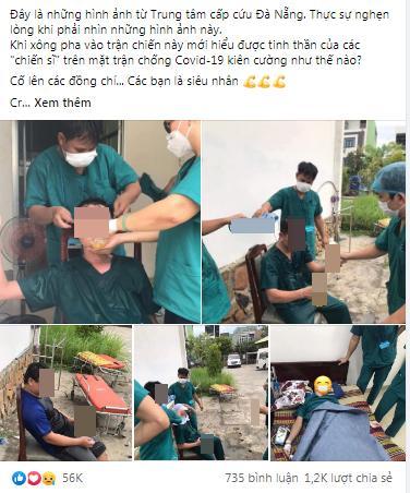 Ảnh bác sĩ Đà Nẵng làm việc kiệt sức chống Covid-19 nhận hơn 50k like-1
