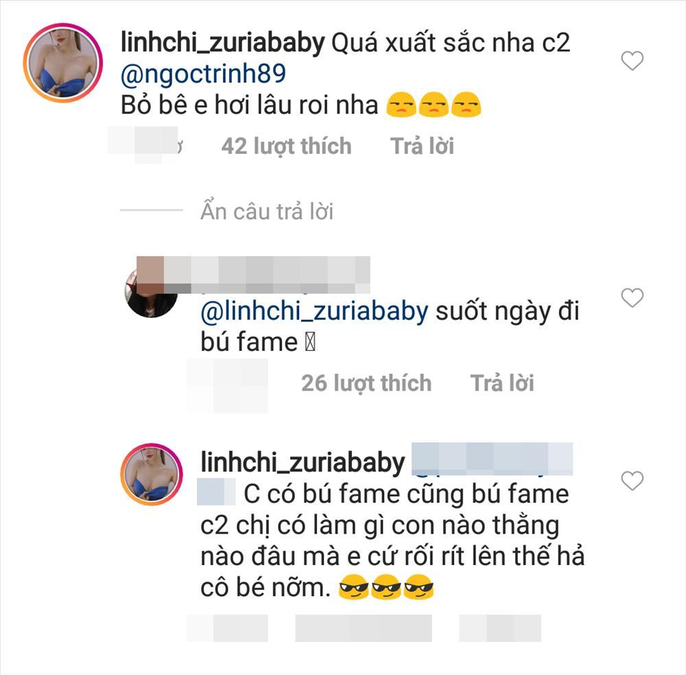 Linh Chi nổi đóa khi bị mỉa mai suốt ngày bú fame Ngọc Trinh-2