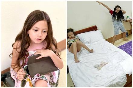 2 nhóc tỳ nhà diva Hồng Nhung bày trò trong khu cách ly
