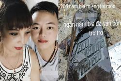 Kỷ niệm 2 năm ngày cưới, cô dâu Cao Bằng xây nhà mới, khoe bia đá khắc tên 2 vợ chồng