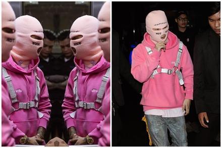 Binz gây tranh cãi khi ăn mặc như kẻ cướp nhà băng