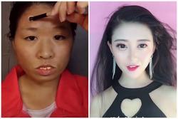 Cô gái mặt mụn, 2 nọng bỗng chốc xinh như hot girl nhờ make-up