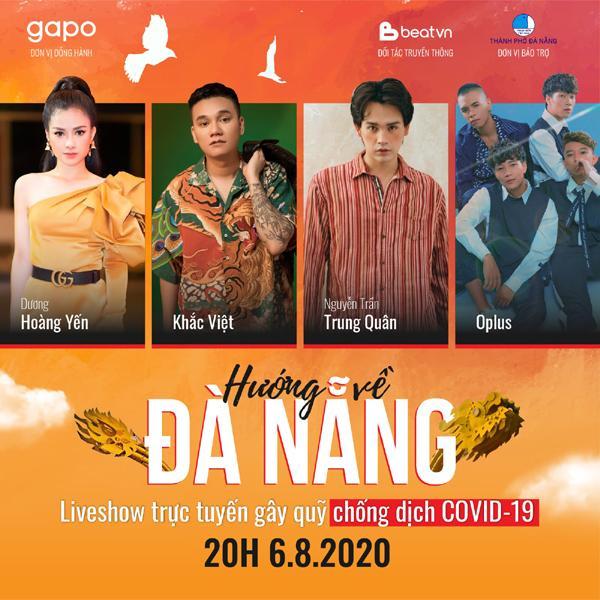 Khắc Việt, Trung Quân tham gia liveshow trực tuyến gây quỹ 'Hướng về Đà Nẵng'-1