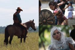 Hình ảnh chưa tiết lộ trong 'Cô gái đến từ hôm qua': Ngô Kiến Huy té ngựa, Miu Lê 'tắm nước sôi'