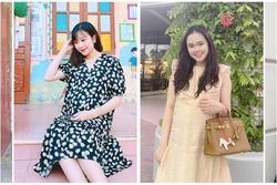 Cùng mang bầu sắp sinh: Vợ Phan Văn Đức giữ dáng, công chúa béo tăng cân vẫn xinh