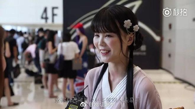 Hot girl cổ trang Trung Quốc lộ mặt thật già nua trên truyền hình-1