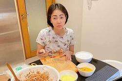 Thu Minh 'khóc dở mếu dở' khi trót mời quá nhiều bạn tới nhà ăn cơm