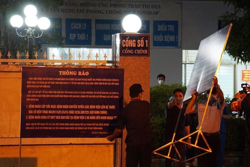 Bệnh viện C Đà Nẵng lúc 0h ngày 8/8 khi chính thức dỡ phong tỏa-6
