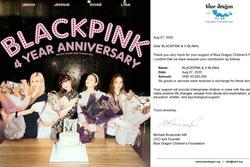 V-BLINKS làm từ thiện ăn mừng BLACKPINK 4 năm debut