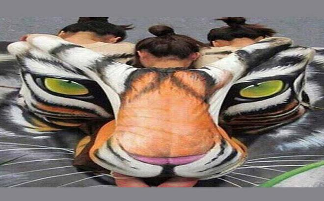 Ấn tượng thị giác: Bạn nhìn thấy mặt con hổ, 1 cô gái hay 3 cô gái?-1