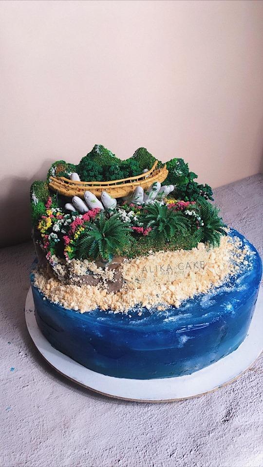 9X tự làm bánh kem đại dương biểu tượng cầu Vàng cổ vũ tinh thần người Đà Nẵng chống dịch-2
