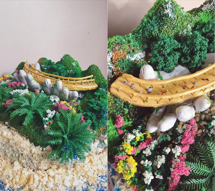9X tự làm bánh kem đại dương biểu tượng cầu Vàng cổ vũ tinh thần người Đà Nẵng chống dịch-3