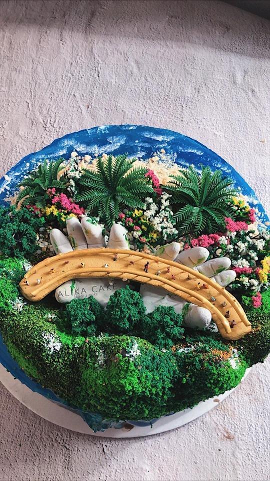9X tự làm bánh kem đại dương biểu tượng cầu Vàng cổ vũ tinh thần người Đà Nẵng chống dịch-5