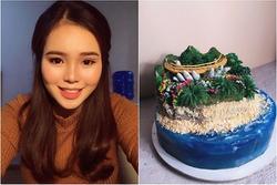 9X tự làm bánh kem 'đại dương' biểu tượng cầu Vàng cổ vũ tinh thần người Đà Nẵng chống dịch