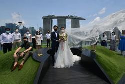 Bất chấp dịch, 240 đôi trẻ Singapore cưới vào 'ngày đẹp' 8/8