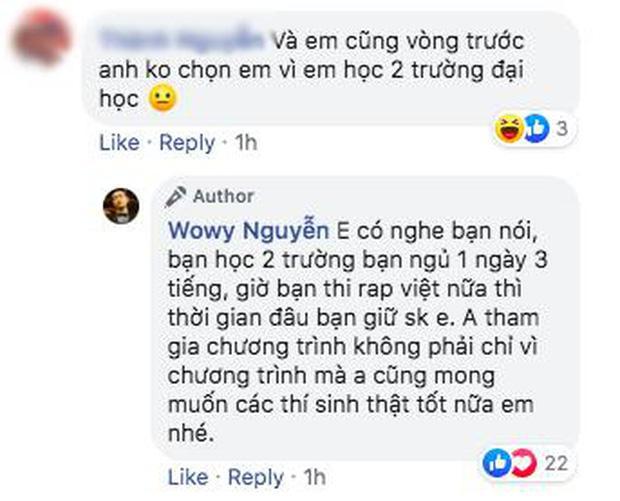 Vì sao Wowy trước sau bất nhất khi lựa chọn thí sinh Rap Việt?-8