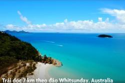 Bãi biển sở hữu 99% cát silic, nước xanh như pha lê