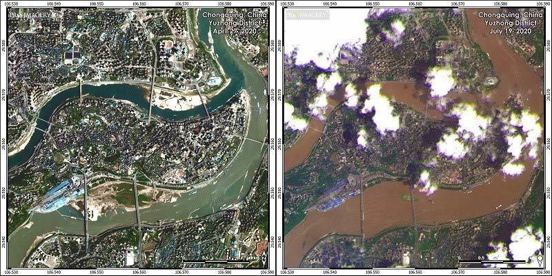 Hình ảnh loạt thành phố Trung Quốc ngập trong lũ, đập Tam Hiệp mở 6 cửa xả-1