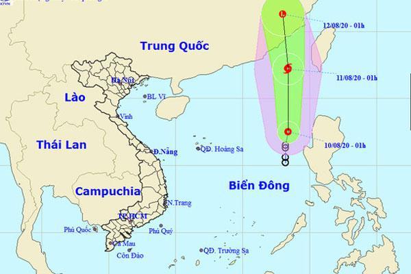 Áp thấp nhiệt đới có khả năng mạnh lên thành bão số 3 gây mưa dông, gió giật-1