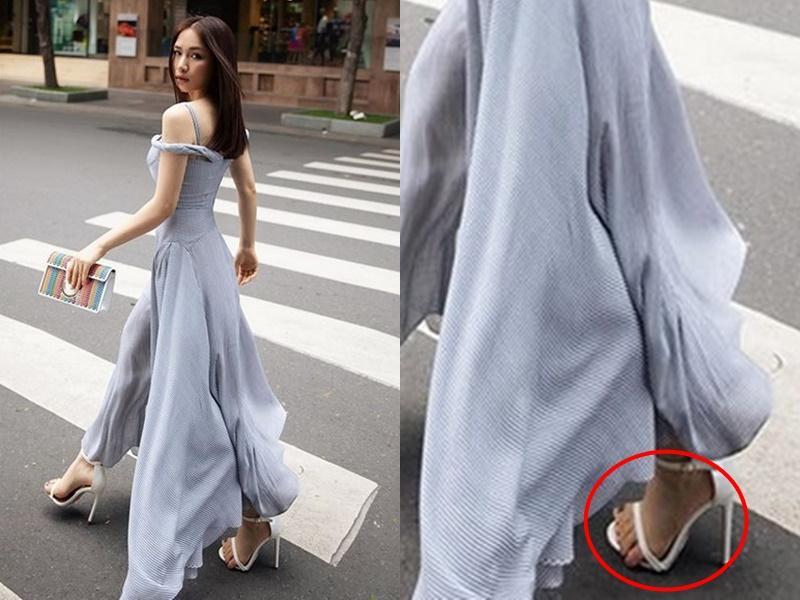 Hòa Minzy bị chê bàn chân xấu để ngón tràn ra rong chơi lề đường-3