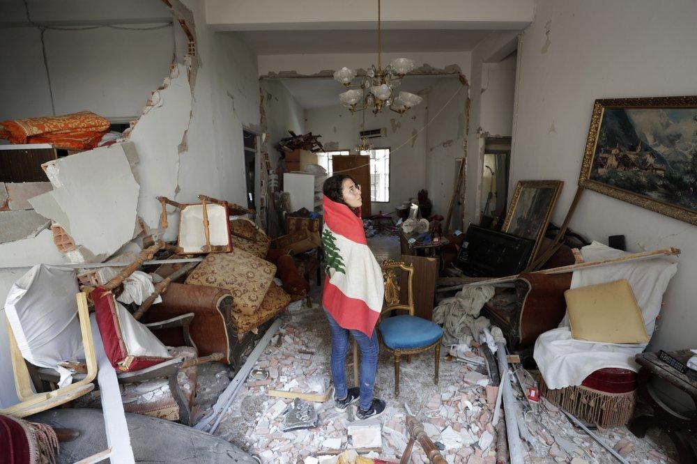 Clip quay chậm vụ nổ kinh hoàng - sự trỗi dậy làn sóng hủy diệt tại Beirut, Lebanon-5