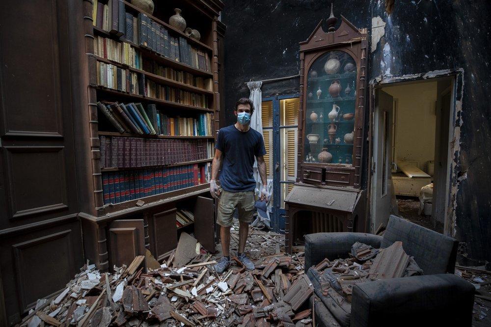 Clip quay chậm vụ nổ kinh hoàng - sự trỗi dậy làn sóng hủy diệt tại Beirut, Lebanon-7