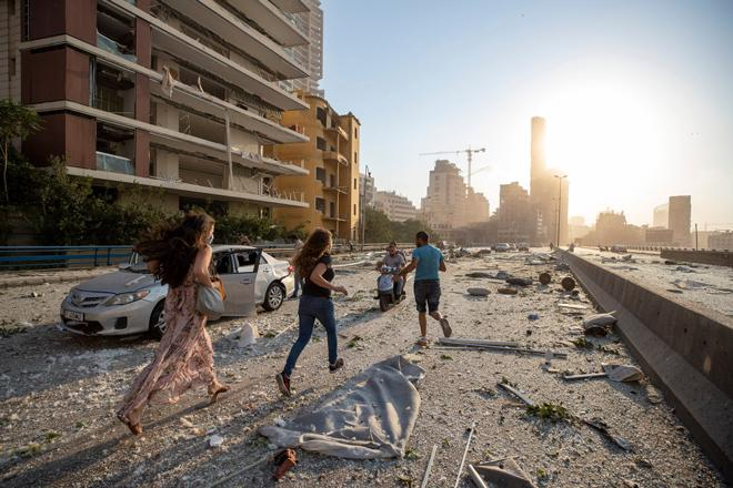 Clip quay chậm vụ nổ kinh hoàng - sự trỗi dậy làn sóng hủy diệt tại Beirut, Lebanon-1